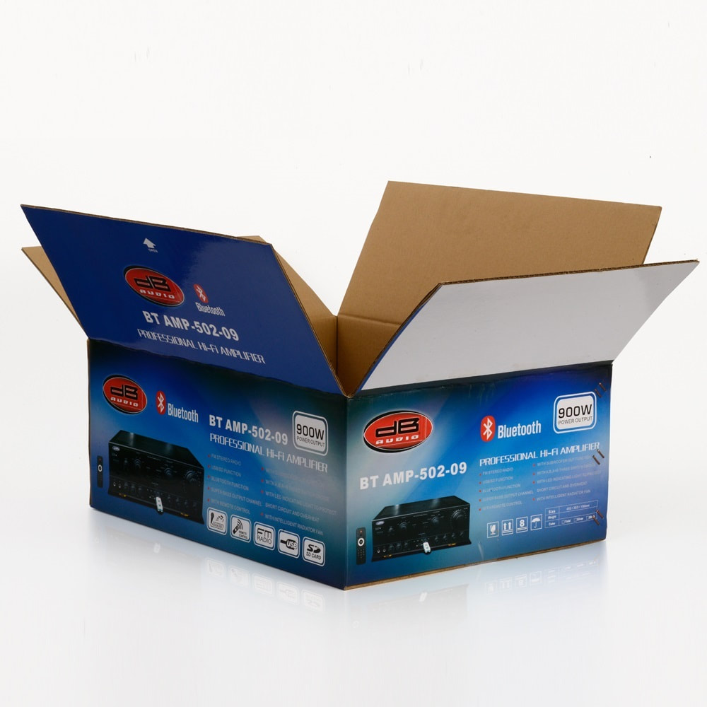 Custom Printed Double Wall Cardboard corrugated packaging box